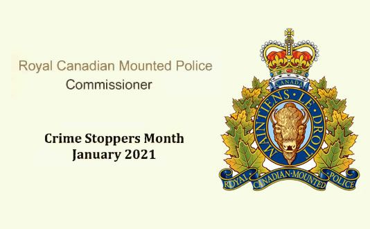 RCMP  Shares Thoughts on Crime Stoppers Month 2021